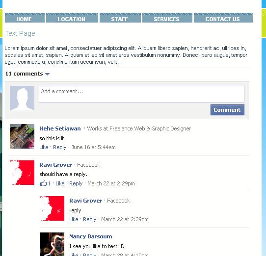 facebook comments blogger