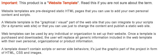 what is a website template